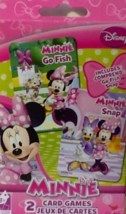 NEW Disney Junior Minnie Mouse ~ 2 Traditional Card Games ~ Go Fish ~ Snap - $8.09