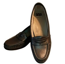 5 1/2 SAS Pewter Gray Silver Colored Tripad Comfort Loafer Flat Slip On - $43.00