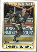 1990-91 TOPPS NHL-#182-Christian Ruuttu-Sabres-Center - $4.16