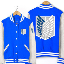 Attack on Titan baseball uniform Jacket Sport Outfit - $45.99