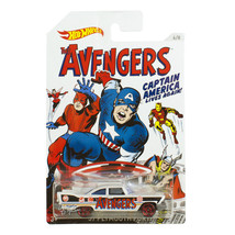 Hot Wheels 1:64 Die Cast Car The Avangers Captain America '57 Plymouth Fury 6/8 - $19.99