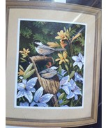 "#20068 Dimensions ""CHICKADEES & LILIES"" Needlepoint Kit 11"" X 18"" - $33.66"