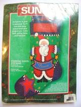 Christmas Felt Stocking NEW Dimensions Kit Starring Santa Peace Stars Pr... - $16.99