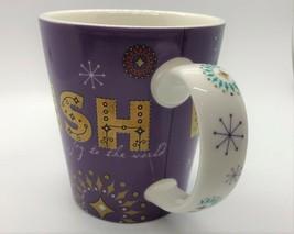 Starbucks Purple w/ Gold WISH Joy to the World Holiday 2006 Coffee Mug 14 0z. - $7.18