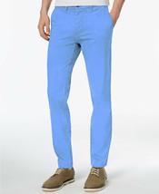 New Mens Tommy Hilfiger Blue Slim Fit Chino Pants 40 X 32 - $29.69