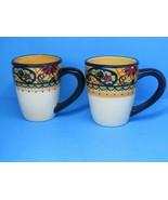 """Corsica Crown Jewel Floral Paisley 4 1/2""""x3 3/4"""" Mugs Set Of 2 Mugs 12 OZ - $36.31"""