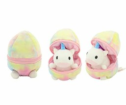 Plushland Plush Stuffed Animal 6 Inches Surprise Zip Up Egg Hideaway Spring Insp
