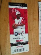 MLB Cincinnati Reds Full Unused Ticket Stub Detroit 6/17/15 (J. Rijo) - $2.92