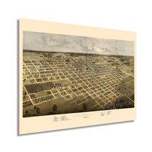 1867 Springfield Illinois Map Poster - Vintage Springfield Illinois Wall... - $34.99+