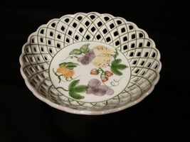 (2) Pieces Nora Fenton Ceramic Fruit Bowl and Matching Vase ~ New - $21.99