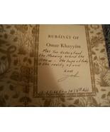 RARE 1947 RUBAIYAT OF OMAR KHAYYAM WITH BOOK HOLDER & COLOR ILLUSTRATION... - $123.75