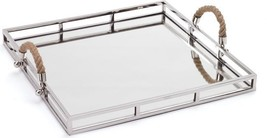 Tray SQUIRE Polished Nickel Mirror Stainless Steel New - $329.00
