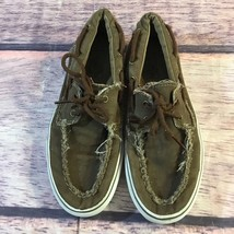Vans Off-The-Wall Boat Shoes Men's 9 Women's 11 Brown Slip On Vintage Style - $23.38