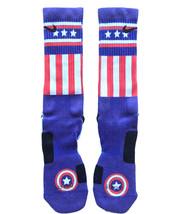 Custom Captain USA Nike Elite Socks ALL Sizes FAST SHIPPING - $23.99