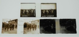 3 World War I glass photos: Verdun prisoners, Wounded soldiers, Sheep he... - $47.52