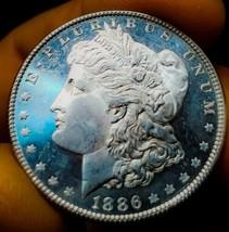 1886 BU++ PL MORGAN SILVER DOLLAR STRONG DMPL /CAMEO.  - $191.10
