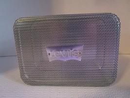 "LEVI'S Tin Box ~ Silver Metal 5.5"" x 4"" x 2"" Storage Container ~ Free Sh... - $7.94"
