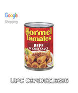 UPC 037600216296 - Hormel Beef Tamales, In Chili Sauce , 15 Ounces, 6 In... - $28.00