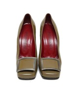 Auth Saint Laurent Paris Brown Patent Leather Block Heel Pumps Size 39 U... - $182.33