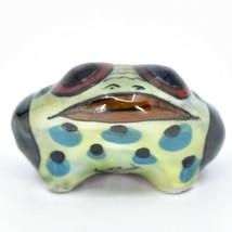 Ceramic Hand Painted Toad Frog Toothpick Holder Table Decor Handmade Guatemala image 2