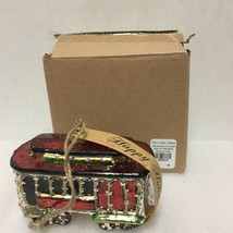 Pottery Barn San Francisco Trolley Car Christmas Ornament Cable California - $24.74