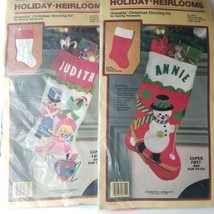 2 Holiday Heirlooms 90312 Christmas Toy 90314 Skiing Snowman No Sew Stoc... - $29.02