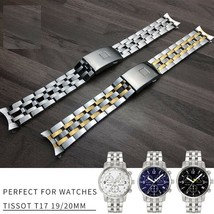 19 20mm Luxury Stainless Steel Watch Band Original Watches For Tissot Wa... - $43.23