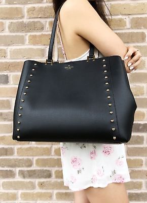 Primary image for Kate Spade Sanders Place Large Romily Tote Black Studded