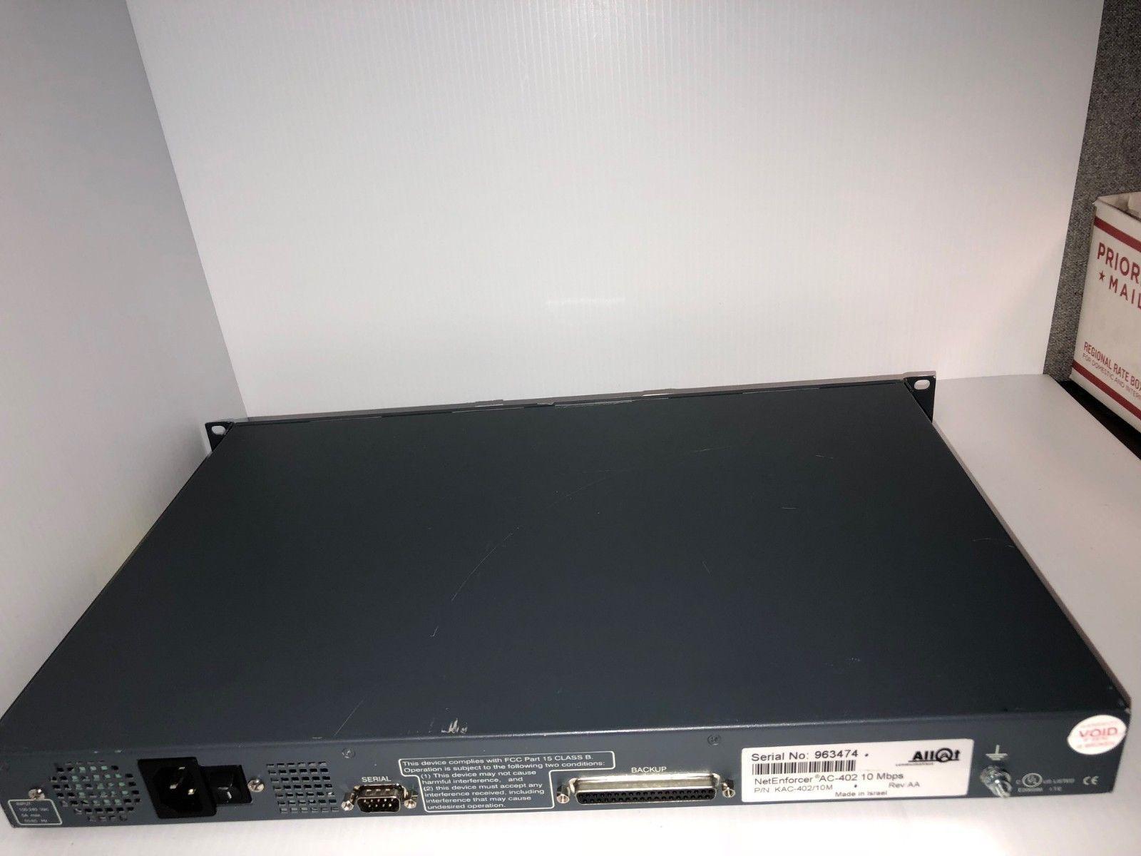 Allot NetEnforcer AC-402 KAC-402/2M Network Bandwidth Controller TESTED L-C5