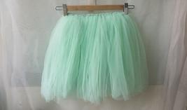 Mint Green Flower girl Tutu Skirts Girl Mini Skirts Baby Tutus- Elastic Waist image 2