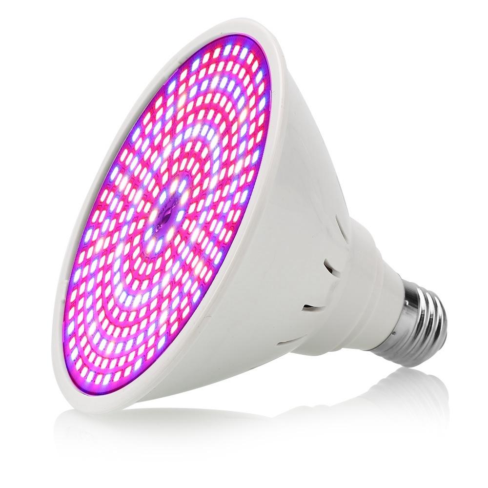 E27 Full Spectrum 290 LED Grow Light Bulb With Desk Holder Clip for Indoor Plant
