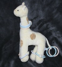 POTTERY BARN KIDS STUFFED PLUSH BABY TOY GIRAFFE YELLOW TAN SPOT POLKA D... - $29.69