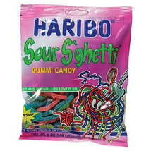 Haribo Sour S'ghetti Gummi Candy 5 oz Bags - Pack of 3 - $11.49