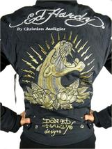 NEW ED HARDY CHRISTIAN AUDIGIER WOMEN'S PREMIUM JACKET BLACK PANTHER SIZE XS image 4