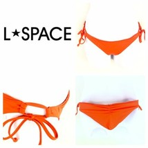 L Space Ella Side Tie Back Ruched Bikini Bottoms Full Cut Neon XS Extra ... - $19.80