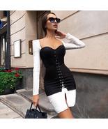 New Winter Women Black Long Sleeve Bodycon Bandage Party Dress - $89.85+