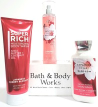 Bath & Body Works Japanese Cherry Blossom Diamond Shimmer Mist, Body Wash,Lotion - $29.21