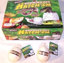 2 SNAKE HATCHING EGGS reptiles growing magic tricks - $6.31