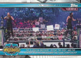 The Bludgeon Brothers 2019 Topps WWE Road To Wrestlemania Card #94 - $0.99