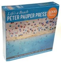 Lifes A Beach 1000 Piece Jigsaw Puzzle 28x20 Peter Pauper Press Full siz... - $13.69