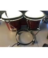 Gearlux Tunable WOODEN Bongos RED - $28.50