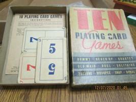 "Vintage Game ""10 Playing Cards Games"" & Texaco Advertising Bear - $22.77"