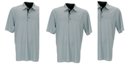 Jack Nicklaus Men luxe touch polo shirt solid grey size L - $39.59