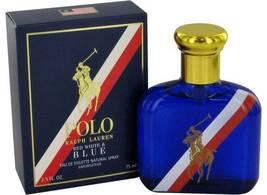 Ralph Lauren Polo Red White & Blue 2.5 Oz Eau De Toilette Spray image 5