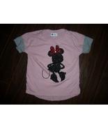 Girls Gap Kids Disney Sequin Minnie Mouse Shirt Size Medium 8 - $4.26