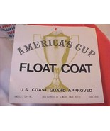 America's Cup Orange Nylon Women Men Coast Guard Full Zipper Float Coat M L New