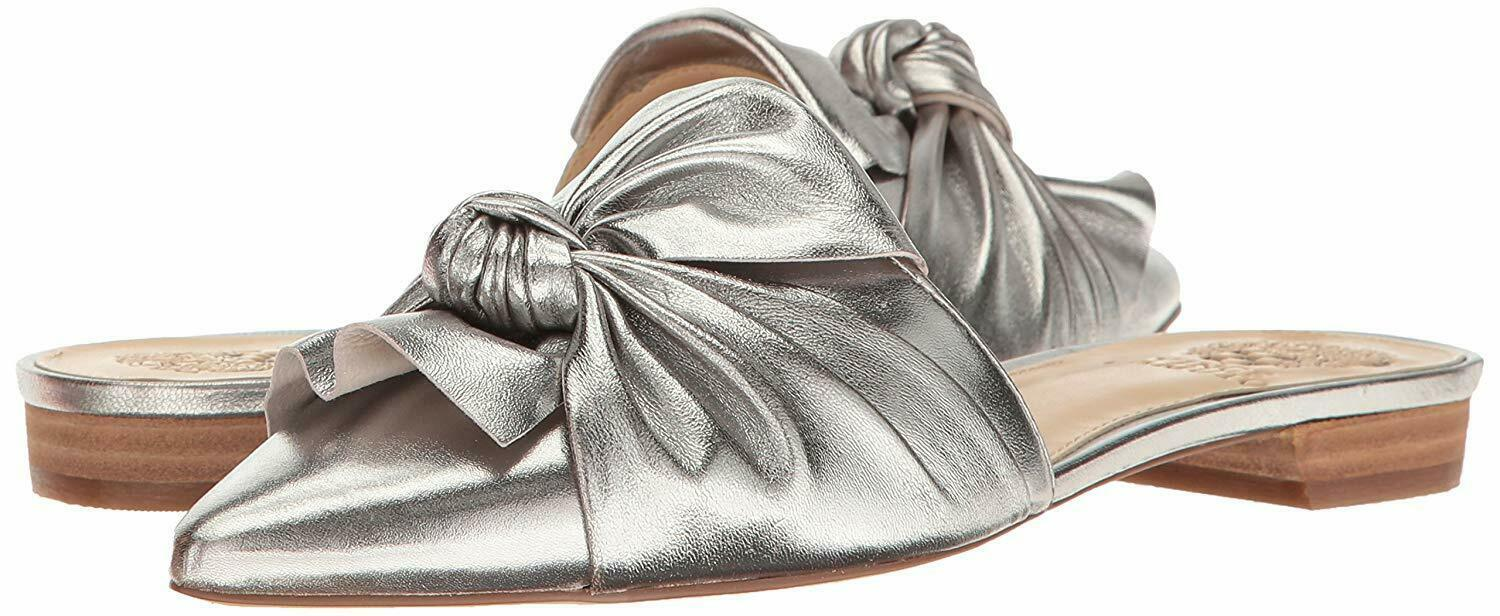 Primary image for Vince Camuto Women's Sandals Marketa Mule Size 9M Color Material Pewter Metallic