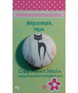 Crazy Cat #3 Needleminder fabric cross stitch n... - $7.00