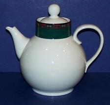 Dansk Quiltings Emerald Braid Green & Black Band Quilt Patterns TEA/COFFEE Pot - $89.09