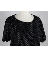 Karen Scott Womens Short Sleeve Black Blouse Size 1X - $15.83